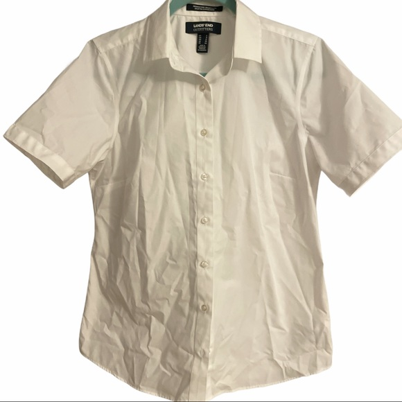 Lands' End Outfitters Size 8 White Blouse